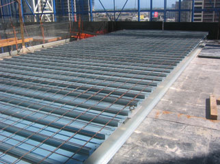Pre Manufactured 'lift in' Steel deck sections